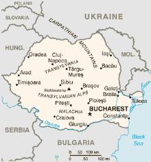 durchschnittliche Höhe Rumänien